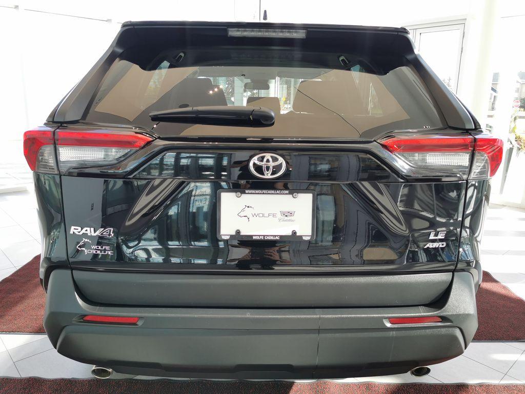 Black[Midnight Black Metallic] 2021 Toyota RAV4 Rear of Vehicle Photo in Edmonton AB
