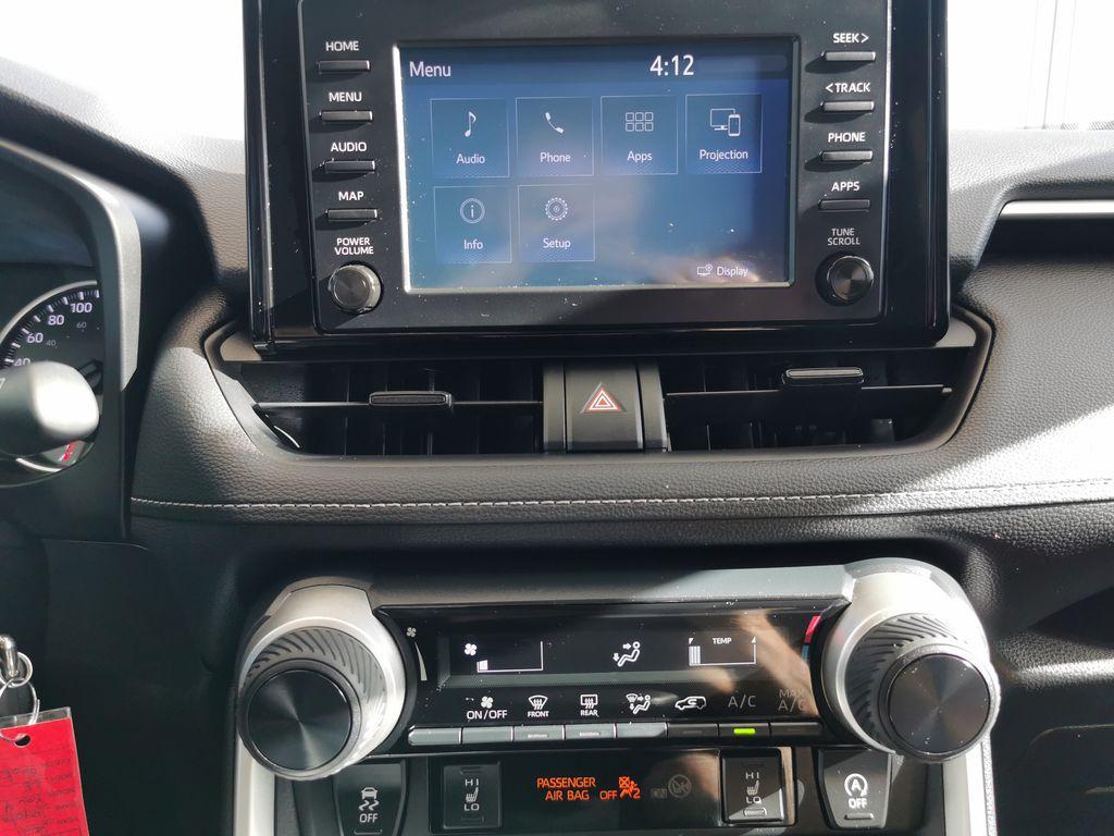 Black[Midnight Black Metallic] 2021 Toyota RAV4 Central Dash Options Photo in Edmonton AB
