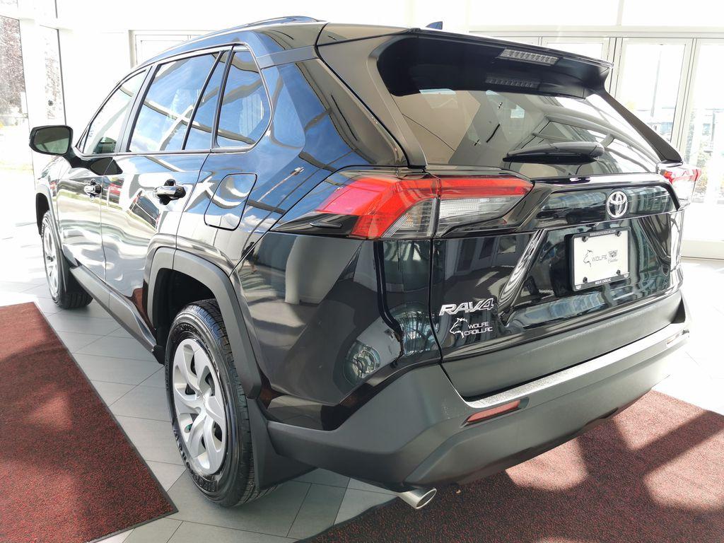 Black[Midnight Black Metallic] 2021 Toyota RAV4 Left Rear Corner Photo in Edmonton AB