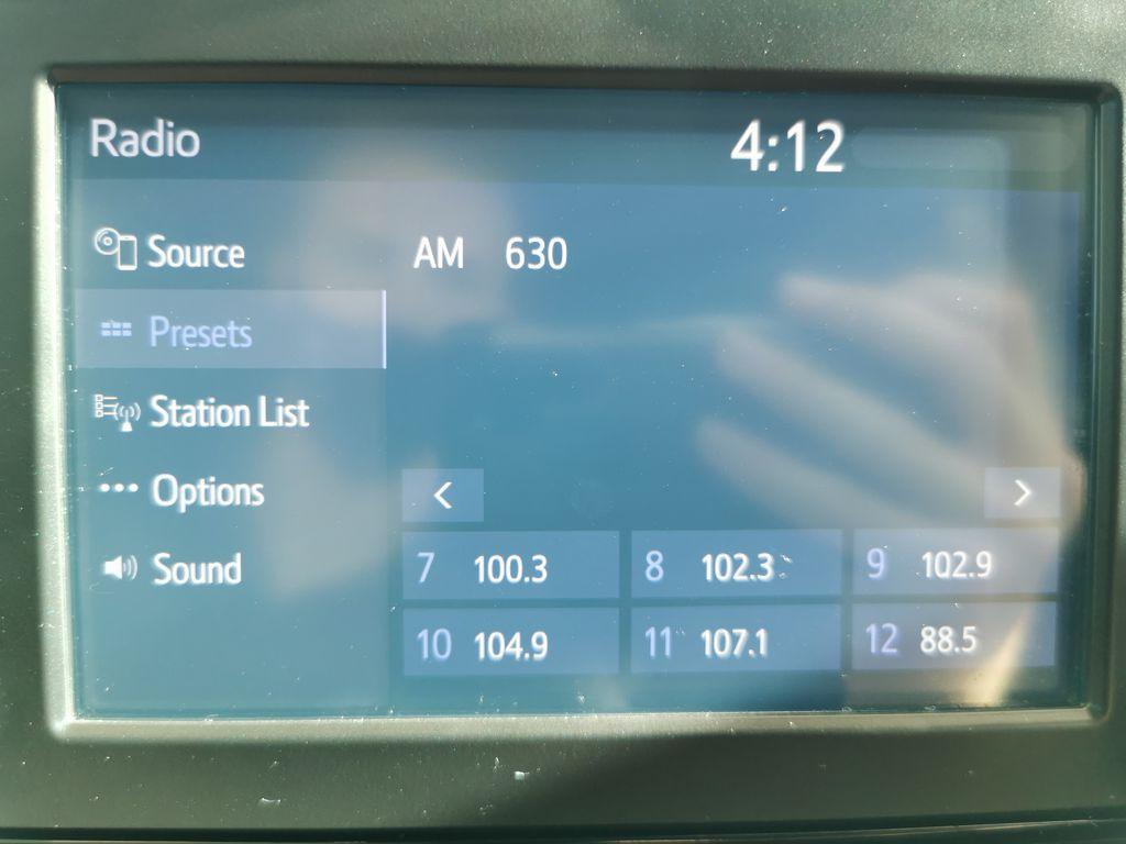 Black[Midnight Black Metallic] 2021 Toyota RAV4 Radio Controls Closeup Photo in Edmonton AB