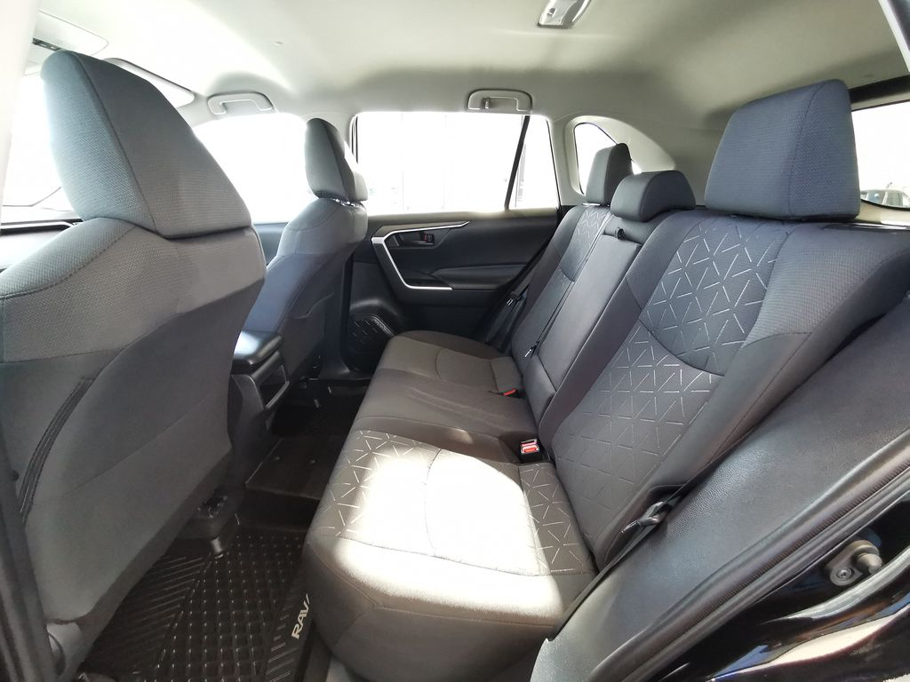 Black[Midnight Black Metallic] 2021 Toyota RAV4 Left Side Rear Seat  Photo in Edmonton AB