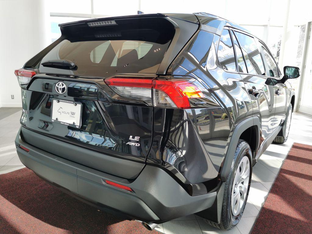 Black[Midnight Black Metallic] 2021 Toyota RAV4 Right Rear Corner Photo in Edmonton AB