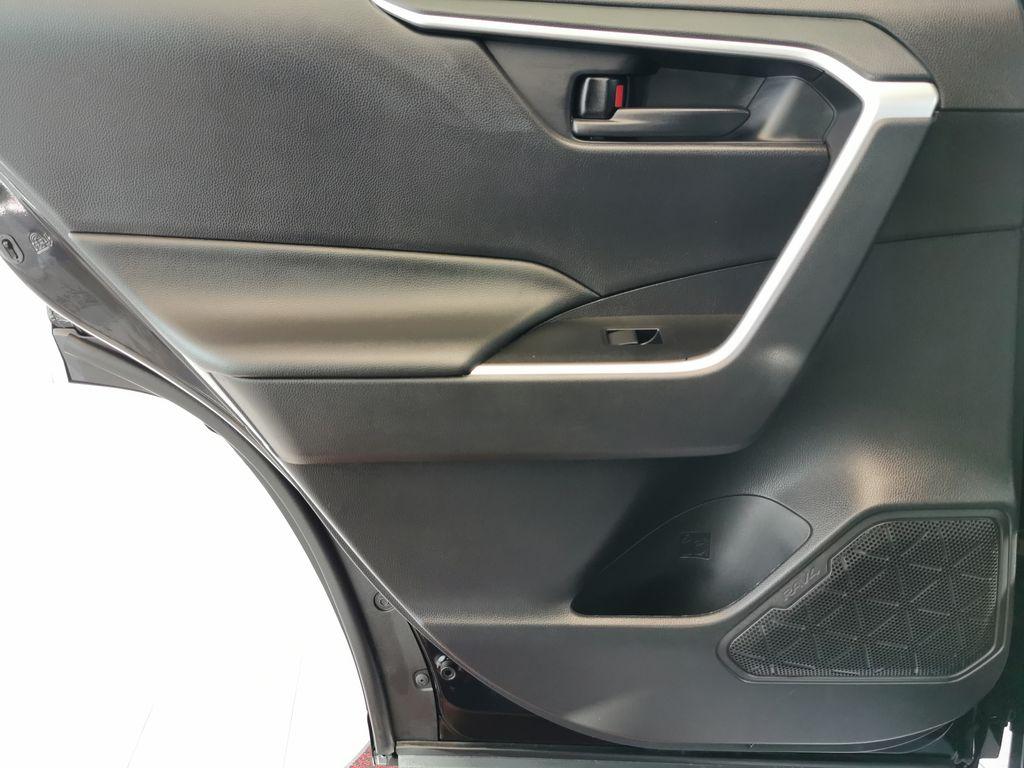 Black[Midnight Black Metallic] 2021 Toyota RAV4 Left Rear Interior Door Panel Photo in Edmonton AB