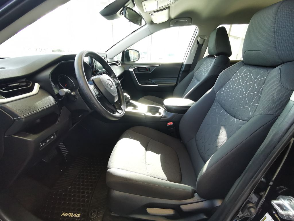 Black[Midnight Black Metallic] 2021 Toyota RAV4 Left Front Interior Photo in Edmonton AB