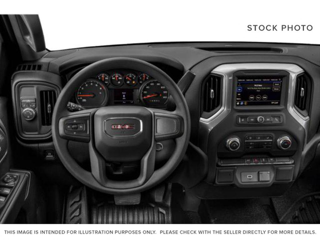 Black[Carbon Black Metallic] 2020 GMC Sierra 1500 Steering Wheel and Dash Photo in Medicine Hat AB
