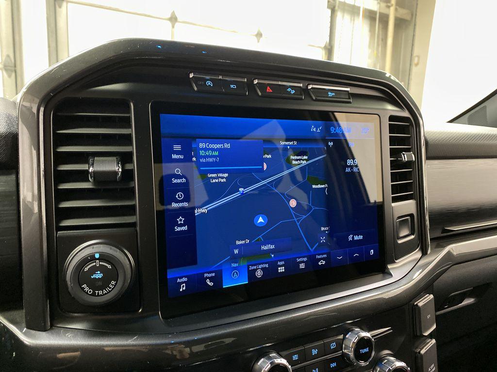Black[Agate Black Metallic] 2021 Ford F-150 Navigation Screen Closeup Photo in Dartmouth NS