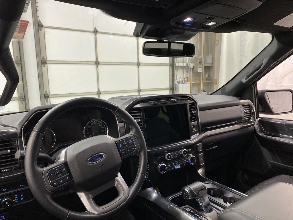 Black[Agate Black Metallic] 2021 Ford F-150 Strng Wheel/Dash Photo: Frm Rear in Dartmouth NS