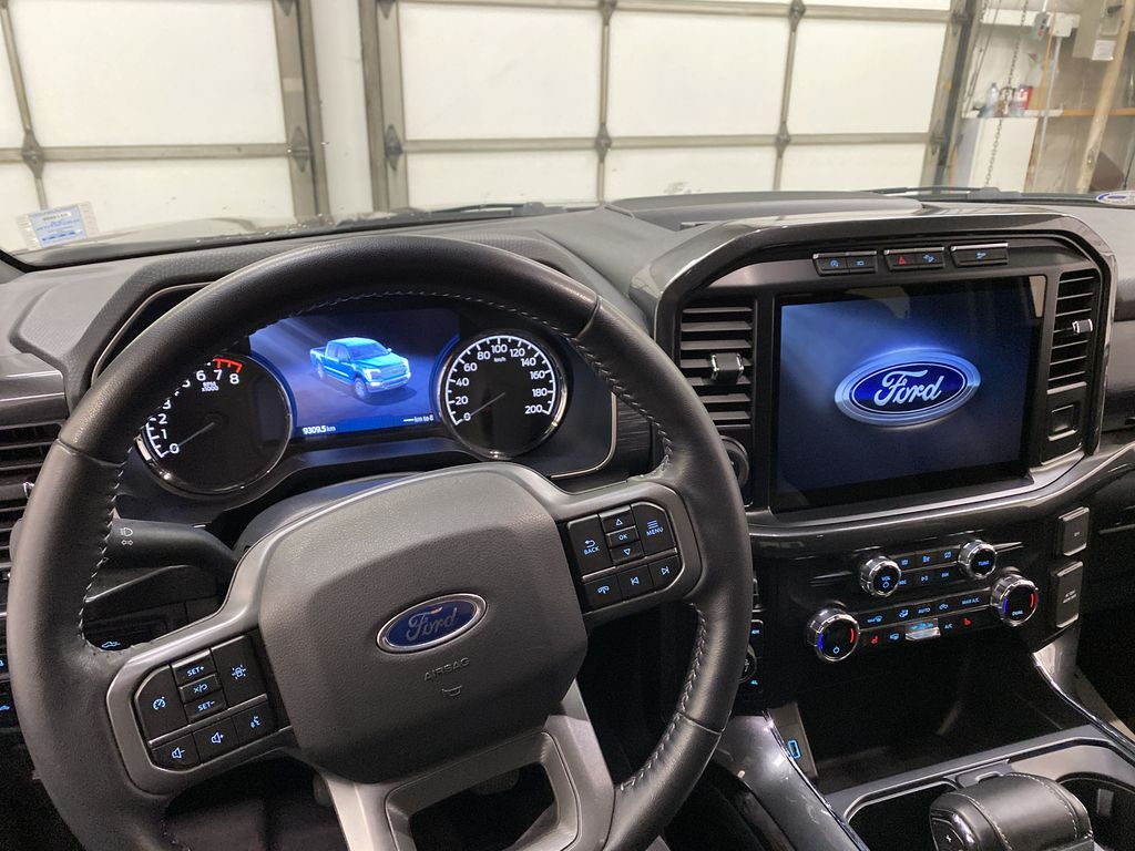 Black[Agate Black Metallic] 2021 Ford F-150 Steering Wheel and Dash Photo in Dartmouth NS