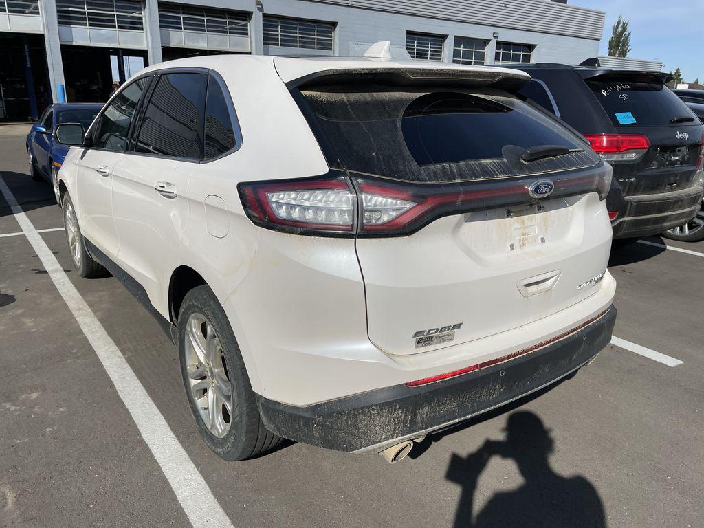 WHITE 2017 Ford Edge Titanium Left Front Rim and Tire Photo in Edmonton AB