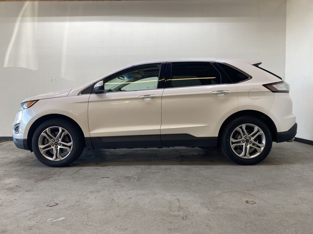 WHITE 2017 Ford Edge Titanium - NAV, Apple CarPlay, Remote Start Left Side Photo in Edmonton AB