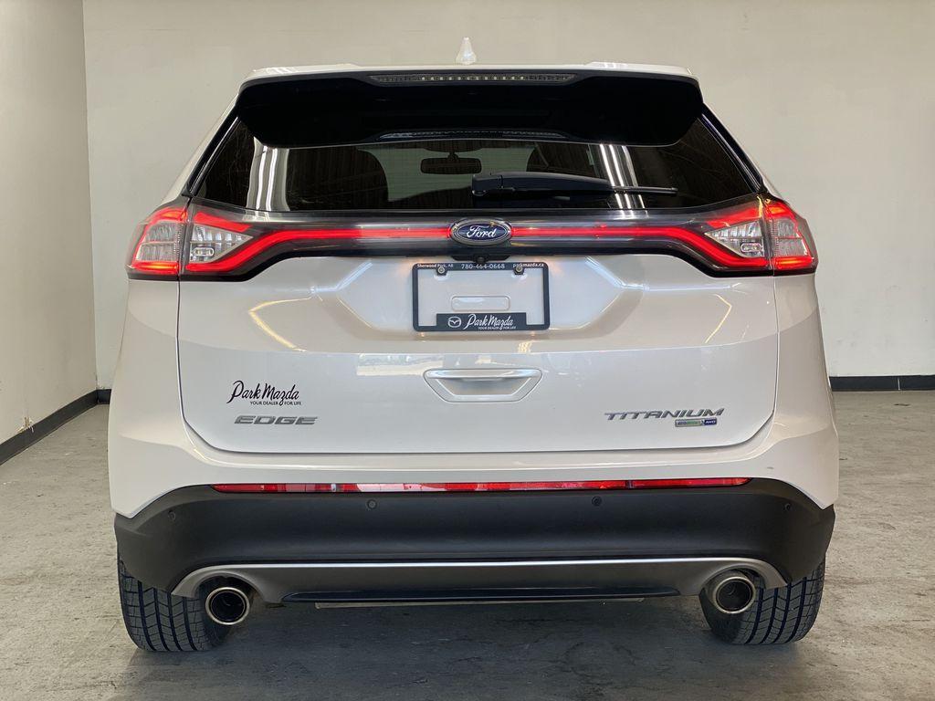 WHITE 2017 Ford Edge Titanium - NAV, Apple CarPlay, Remote Start Rear of Vehicle Photo in Edmonton AB