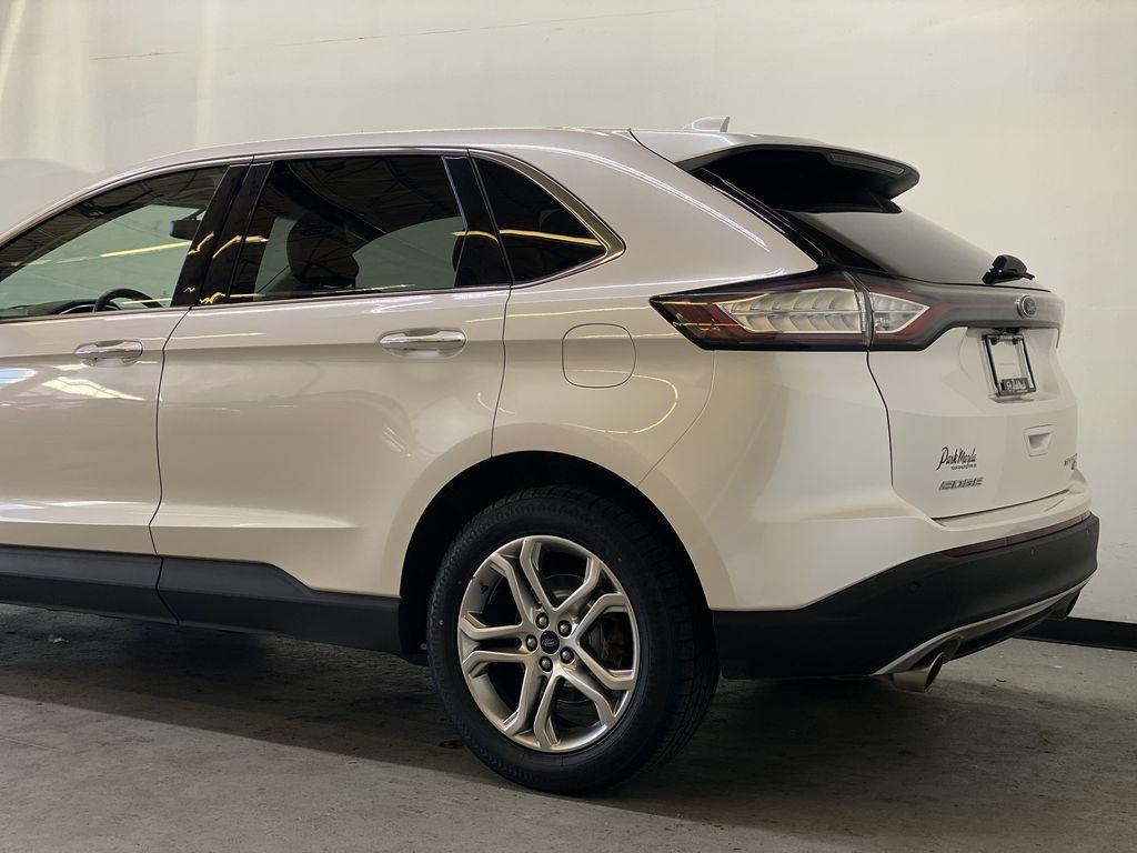 WHITE 2017 Ford Edge Titanium - NAV, Apple CarPlay, Remote Start Left Rear Corner Photo in Edmonton AB