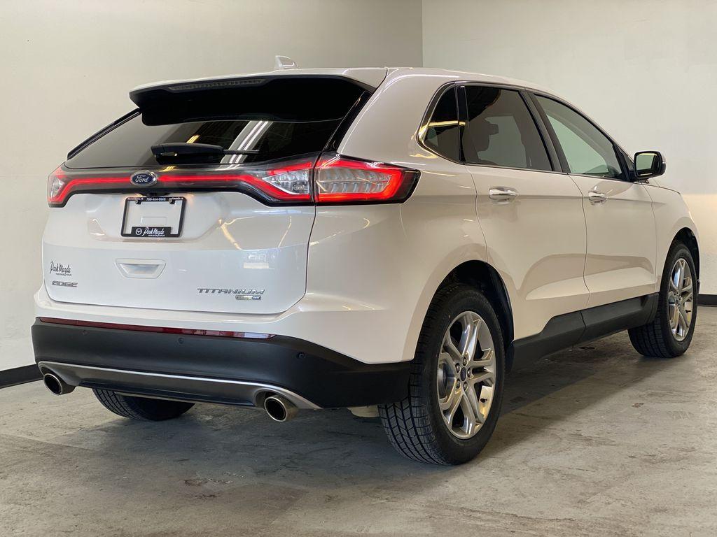 WHITE 2017 Ford Edge Titanium - NAV, Apple CarPlay, Remote Start Right Rear Corner Photo in Edmonton AB