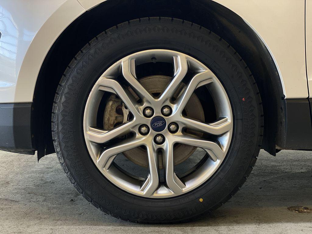 WHITE 2017 Ford Edge Titanium - NAV, Apple CarPlay, Remote Start Left Front Rim and Tire Photo in Edmonton AB