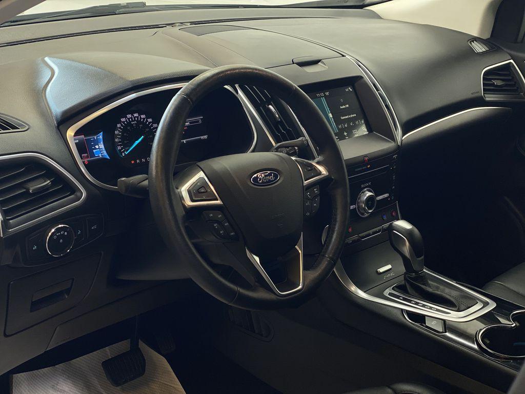 WHITE 2017 Ford Edge Titanium - NAV, Apple CarPlay, Remote Start Steering Wheel and Dash Photo in Edmonton AB