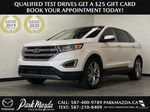 WHITE 2017 Ford Edge Titanium - NAV, Apple CarPlay, Remote Start Primary Photo in Edmonton AB