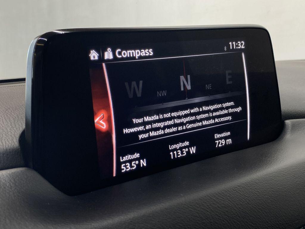 WHITE 2017 Mazda CX-5 GS AWD - Remote Start, Backup Camera, Bluetooth Navigation Screen Closeup Photo in Edmonton AB