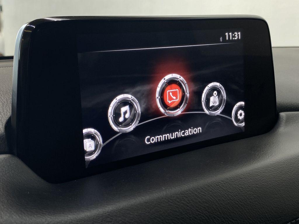 WHITE 2017 Mazda CX-5 GS AWD - Remote Start, Backup Camera, Bluetooth Radio Controls Closeup Photo in Edmonton AB