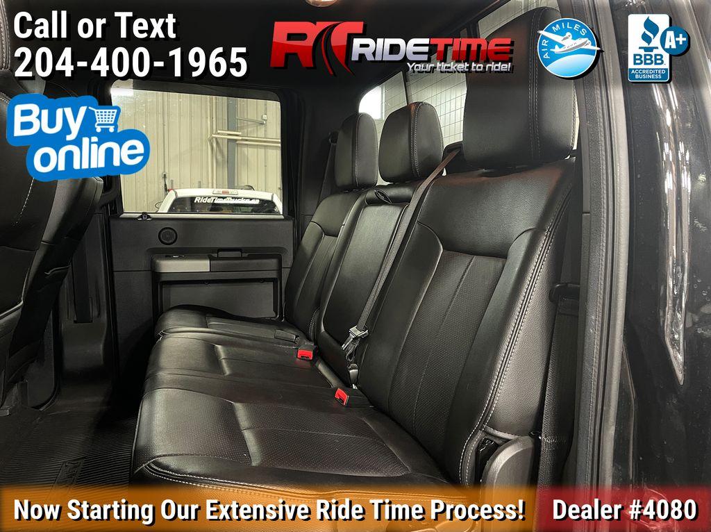 Black[Tuxedo Black Metallic] 2014 Ford F-250 Lariat 4WD - SuperCrew, Leather, Sunroof, Navigation Left Side Rear Seat  Photo in Winnipeg MB