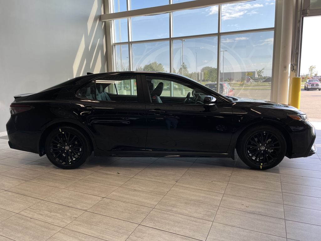 Midnight Black Metallic 2021 Toyota Camry SE AWD Nightshade Right Rear Corner Photo in Edmonton AB