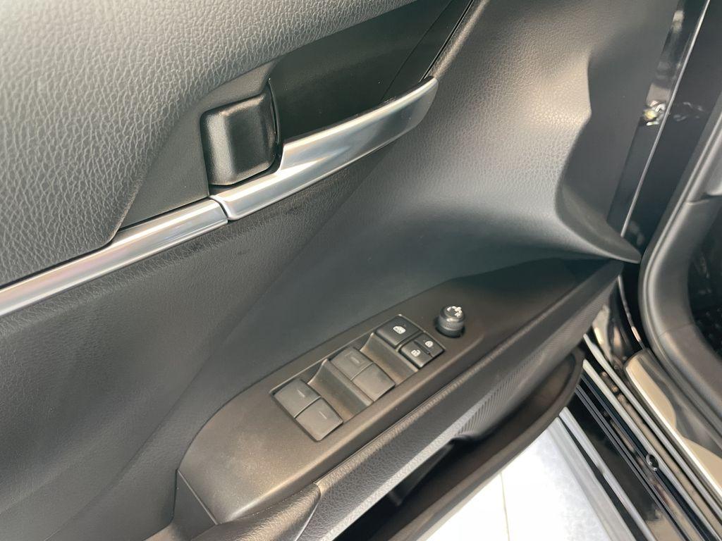 Midnight Black Metallic 2021 Toyota Camry SE AWD Nightshade Rear Seat Photo in Edmonton AB