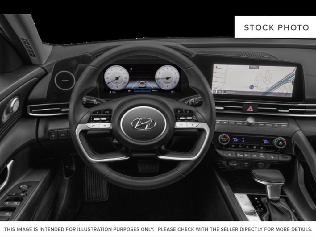 Gray[Cyber Grey] 2022 Hyundai Elantra Steering Wheel and Dash Photo in Ottawa ON