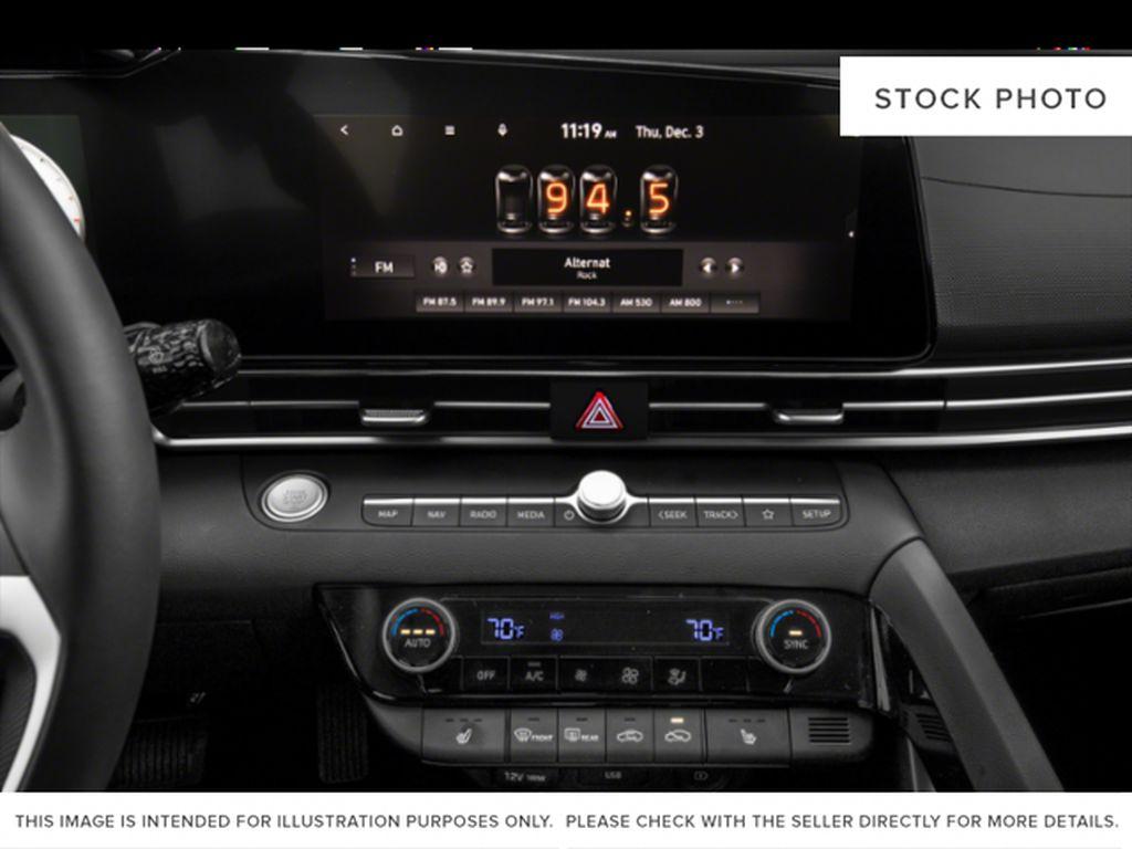Gray[Cyber Grey] 2022 Hyundai Elantra Radio Controls Closeup Photo in Ottawa ON