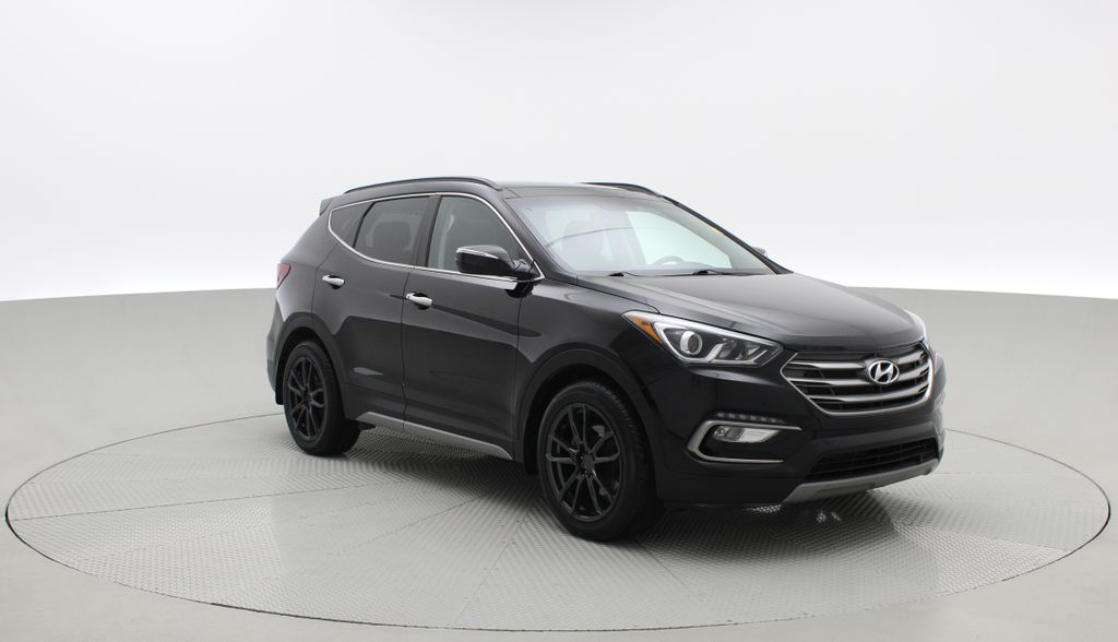 Black[Twilight Black] 2017 Hyundai Santa Fe Sport Limited 2.0T AWD - Panoramic Roof, Leather Left Front Corner Photo in Winnipeg MB