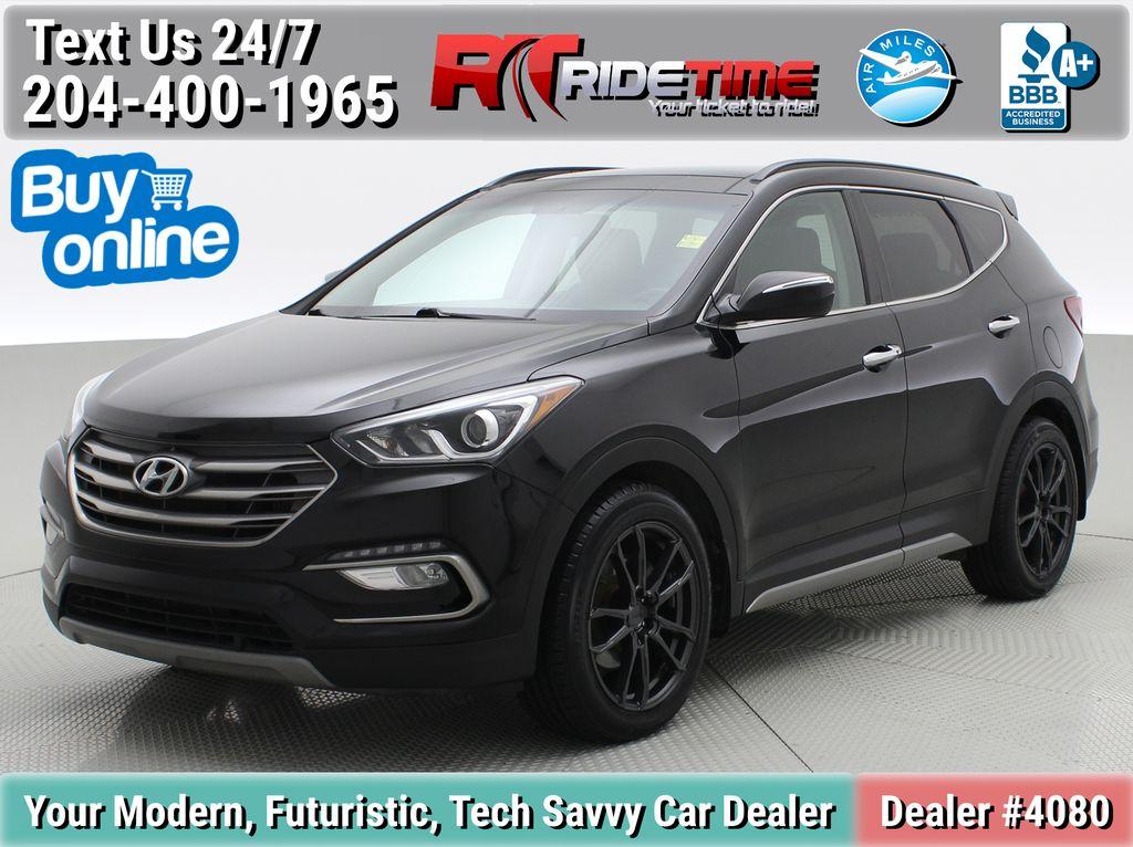 Black[Twilight Black] 2017 Hyundai Santa Fe Sport Limited 2.0T AWD - Panoramic Roof, Leather