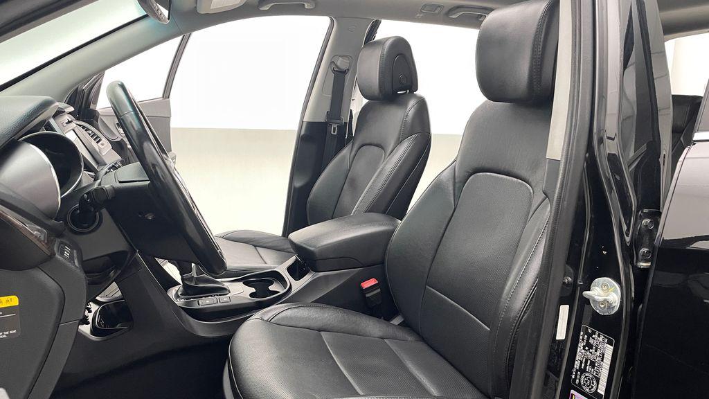 Black[Twilight Black] 2017 Hyundai Santa Fe Sport Limited 2.0T AWD - Panoramic Roof, Leather Left Front Interior Photo in Winnipeg MB
