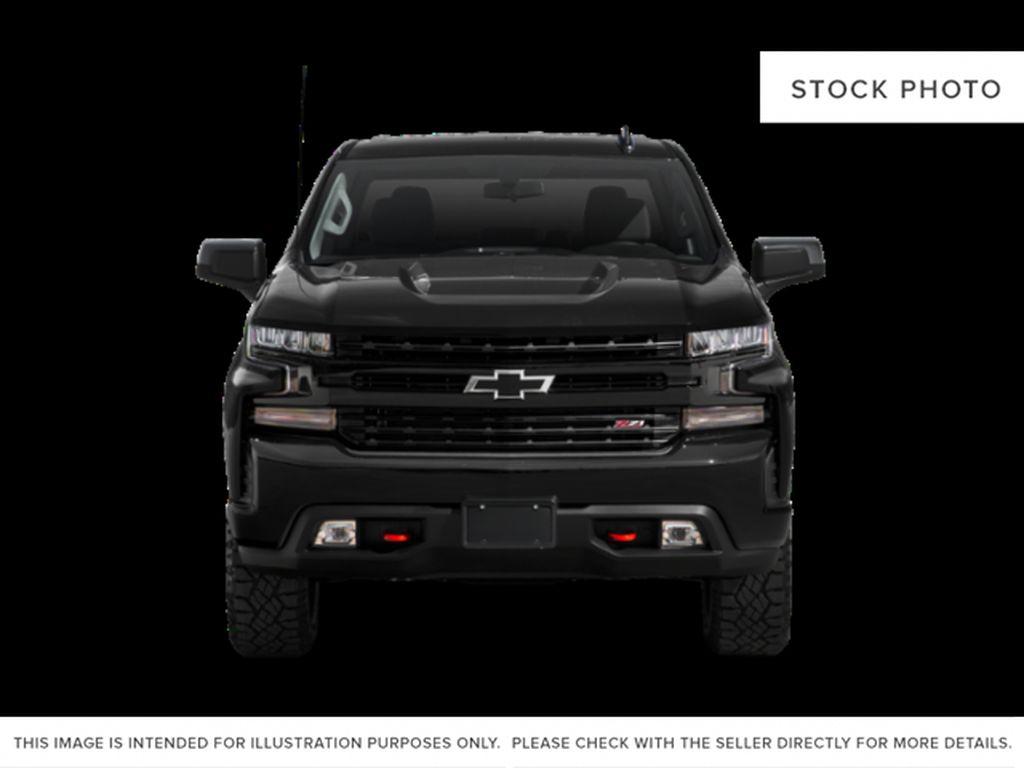 Gray[Shadow Grey Metallic] 2021 Chevrolet Silverado 1500 Front Vehicle Photo in Canmore AB