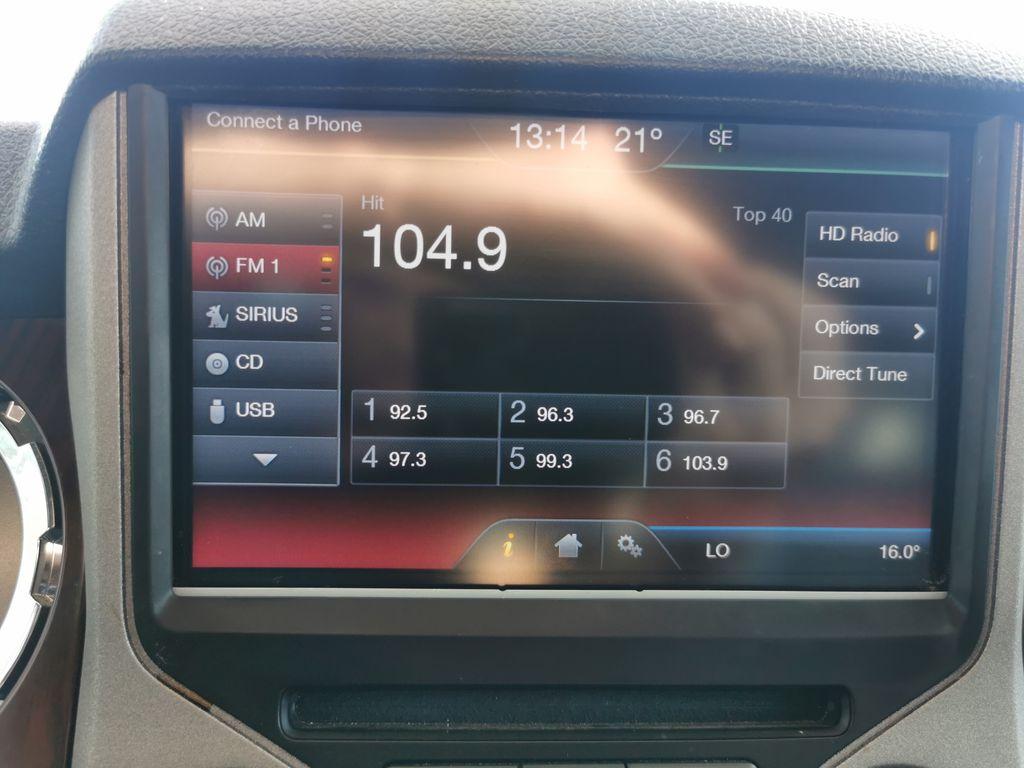 Red[Race Red] 2016 Ford Super Duty F-350 SRW Radio Controls Closeup Photo in Edmonton AB