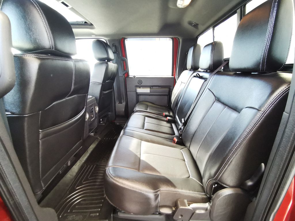 Red[Race Red] 2016 Ford Super Duty F-350 SRW Left Side Rear Seat  Photo in Edmonton AB