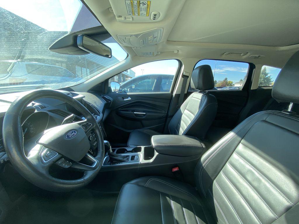 WHITE 2017 Ford Escape Titanium Left Front Interior Door Panel Photo in Edmonton AB
