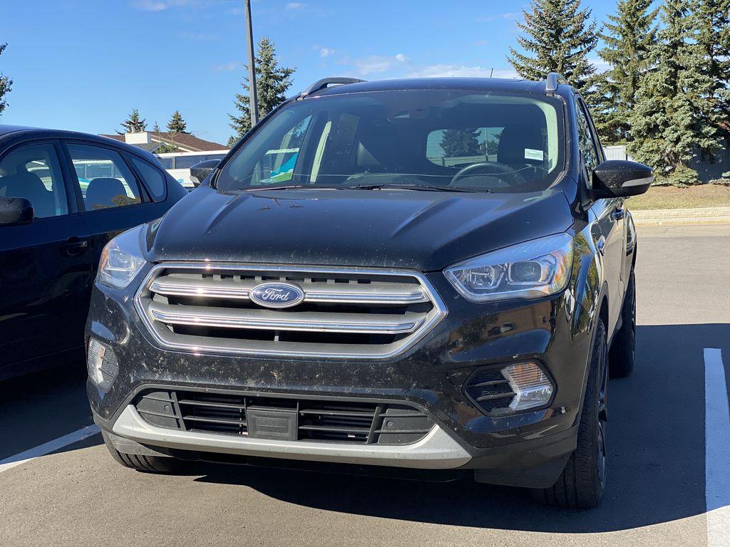 WHITE 2017 Ford Escape Titanium Left Front Corner Photo in Edmonton AB