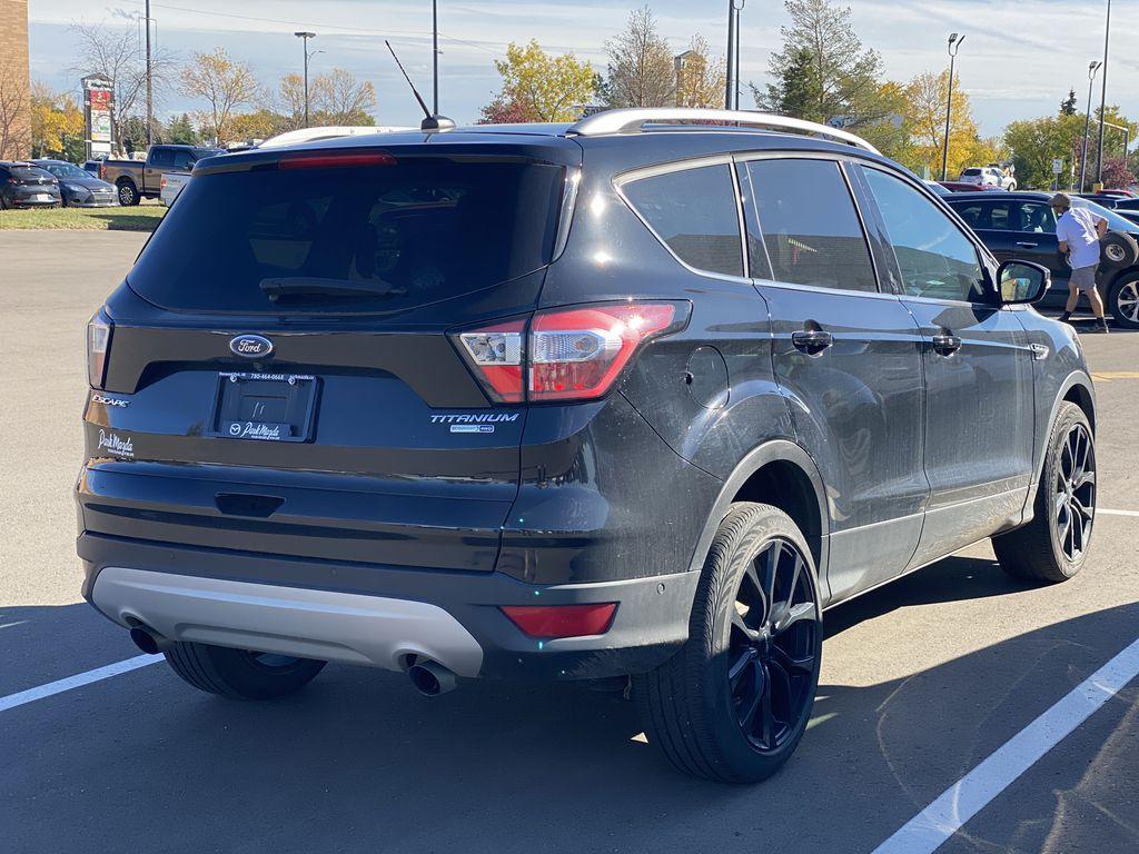 WHITE 2017 Ford Escape Titanium Left Front Interior Photo in Edmonton AB