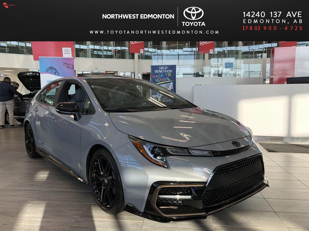 Cement Grey W/Black Roof 2022 Toyota Corolla SE Apex Edition