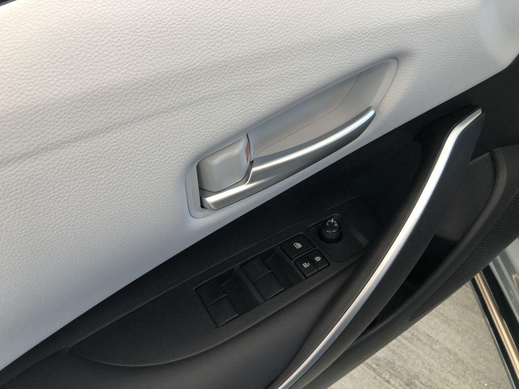 Cement Grey W/Black Roof 2022 Toyota Corolla SE Apex Edition Rear Seat Photo in Edmonton AB