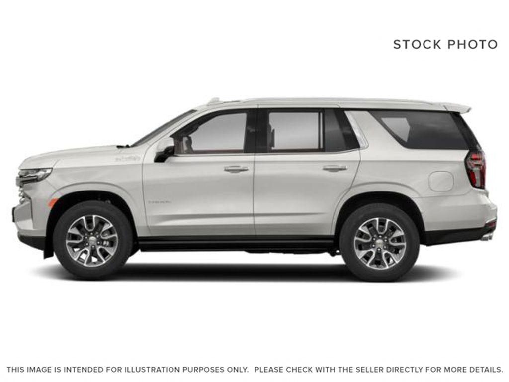 White[Iridescent Pearl Tricoat] 2021 Chevrolet Tahoe High Country Left Side Photo in Calgary AB