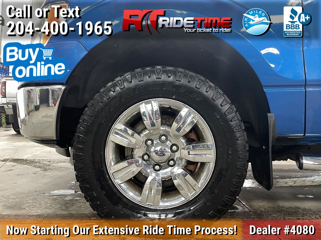 Blue[Blue Flame Metallic] 2012 Ford F-150 XLT XTR - SuperCrew, 3.5L EcoBoost Left Front Rim and Tire Photo in Winnipeg MB