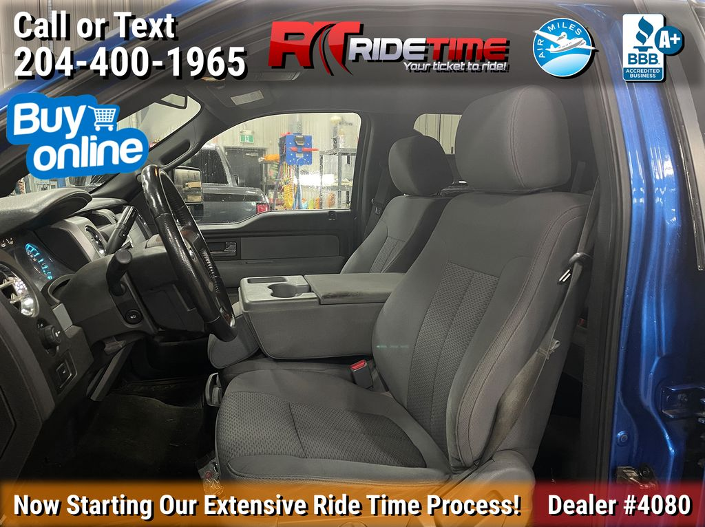 Blue[Blue Flame Metallic] 2012 Ford F-150 XLT XTR - SuperCrew, 3.5L EcoBoost Left Front Interior Photo in Winnipeg MB