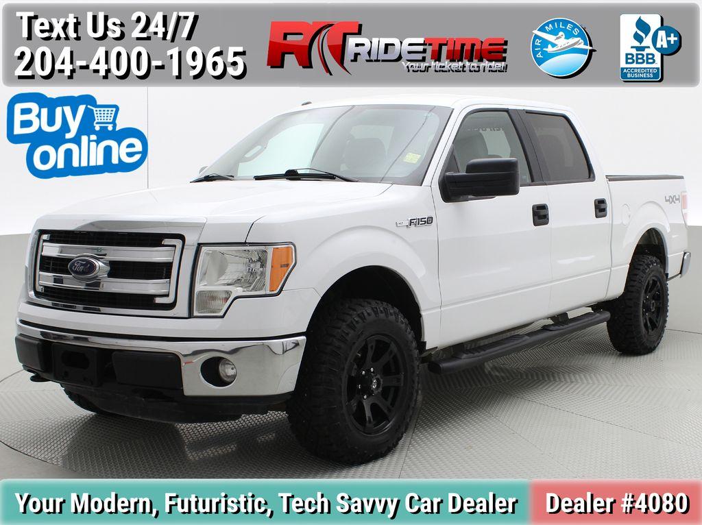 White[Oxford White] 2014 Ford F-150 XLT 4WD - SuperCrew, Black Alloys, Duratracs, 5.0L V8