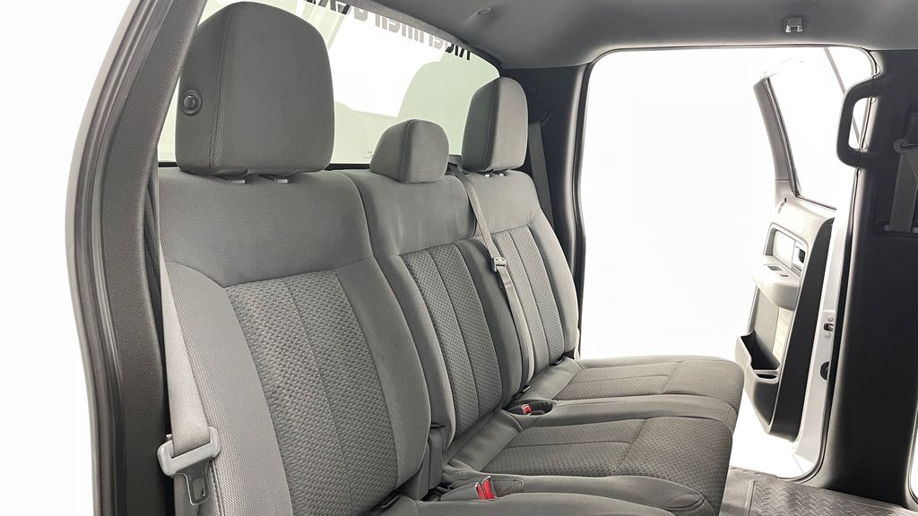 White[Oxford White] 2014 Ford F-150 XLT 4WD - SuperCrew, Black Alloys, Duratracs, 5.0L V8 Right Side Rear Seat  Photo in Winnipeg MB