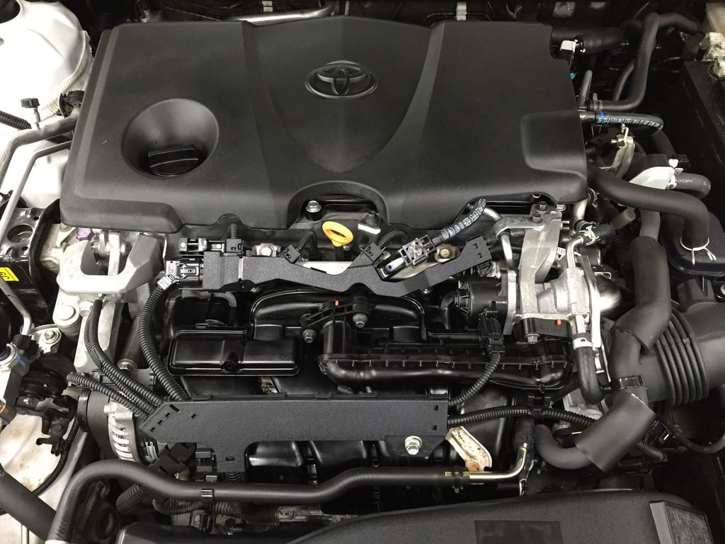 White[Super White] 2019 Toyota Camry SE Engine Compartment Photo in Sherwood Park AB