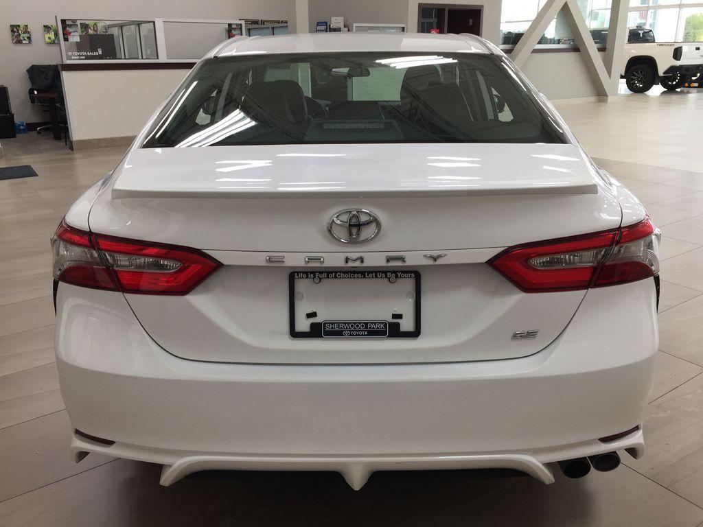 White[Super White] 2019 Toyota Camry SE Rear of Vehicle Photo in Sherwood Park AB