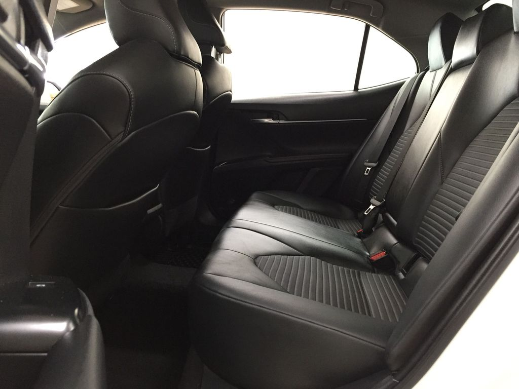 White[Super White] 2019 Toyota Camry SE Left Side Rear Seat  Photo in Sherwood Park AB