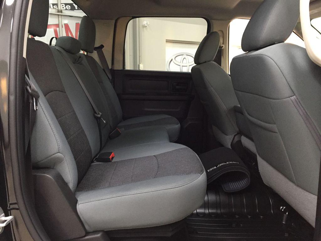 Black[Black] 2020 Ram 1500 Classic CREW CAB 4X4 5.7L HEMI Right Side Rear Seat  Photo in Sherwood Park AB