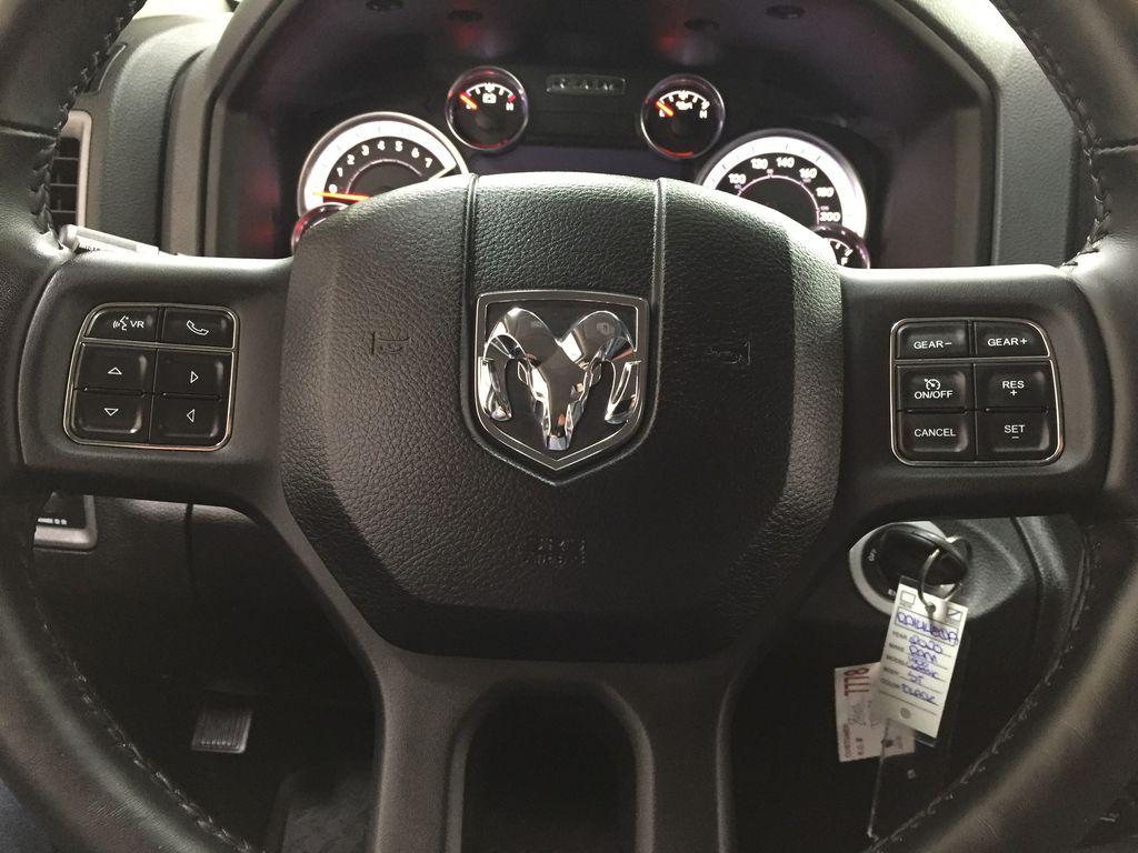 Black[Black] 2020 Ram 1500 Classic CREW CAB 4X4 5.7L HEMI Steering Wheel and Dash Photo in Sherwood Park AB