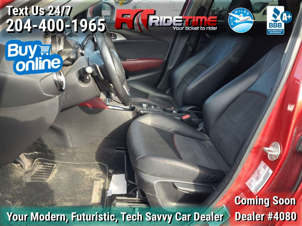 Red[Soul Red Mica] 2016 Mazda CX-3 GT AWD - Leather, Sunroof, NAV, Backup Cam, Bluetooth Left Front Interior Photo in Winnipeg MB