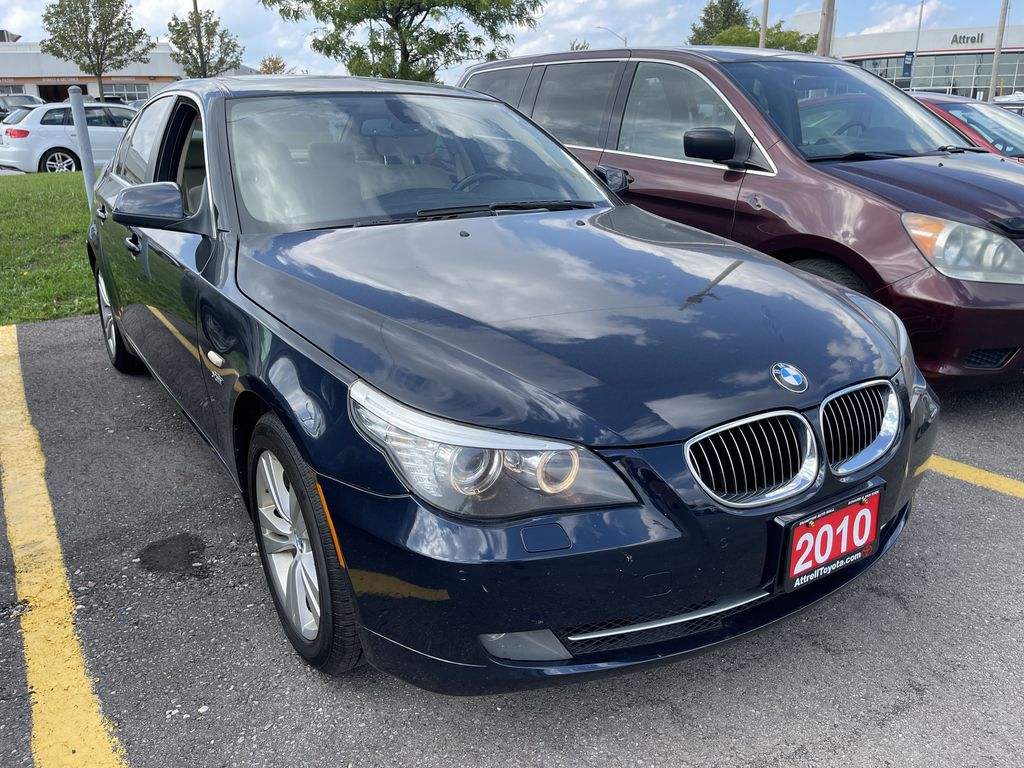 Black[Black Sapphire Metallic] 2010 BMW 5 Series clean Sunroof Photo in Brampton ON